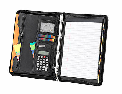 Falcon A4 Professional Document/Conference Folder With Calculator