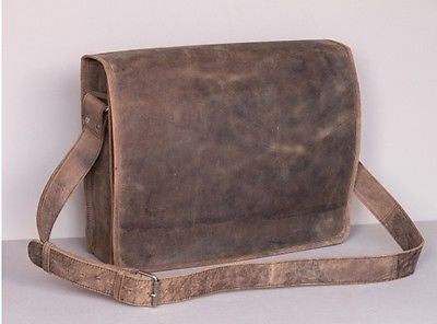 Scaramanga Leather Messenger Bag