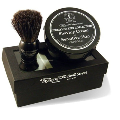 Taylor of Old Bond Street Jermyn Street Collection Brush and Bowl Gift Box Set