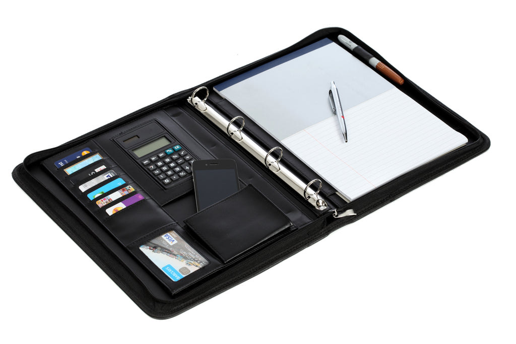 Executive A4 Ring Binder/Portfolio/Conference Documents Folder /Pen/Calculator
