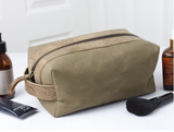 Leather And Canvas Wash Bag