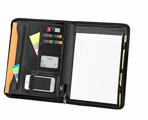 Falcon A4 zip around conference Folder