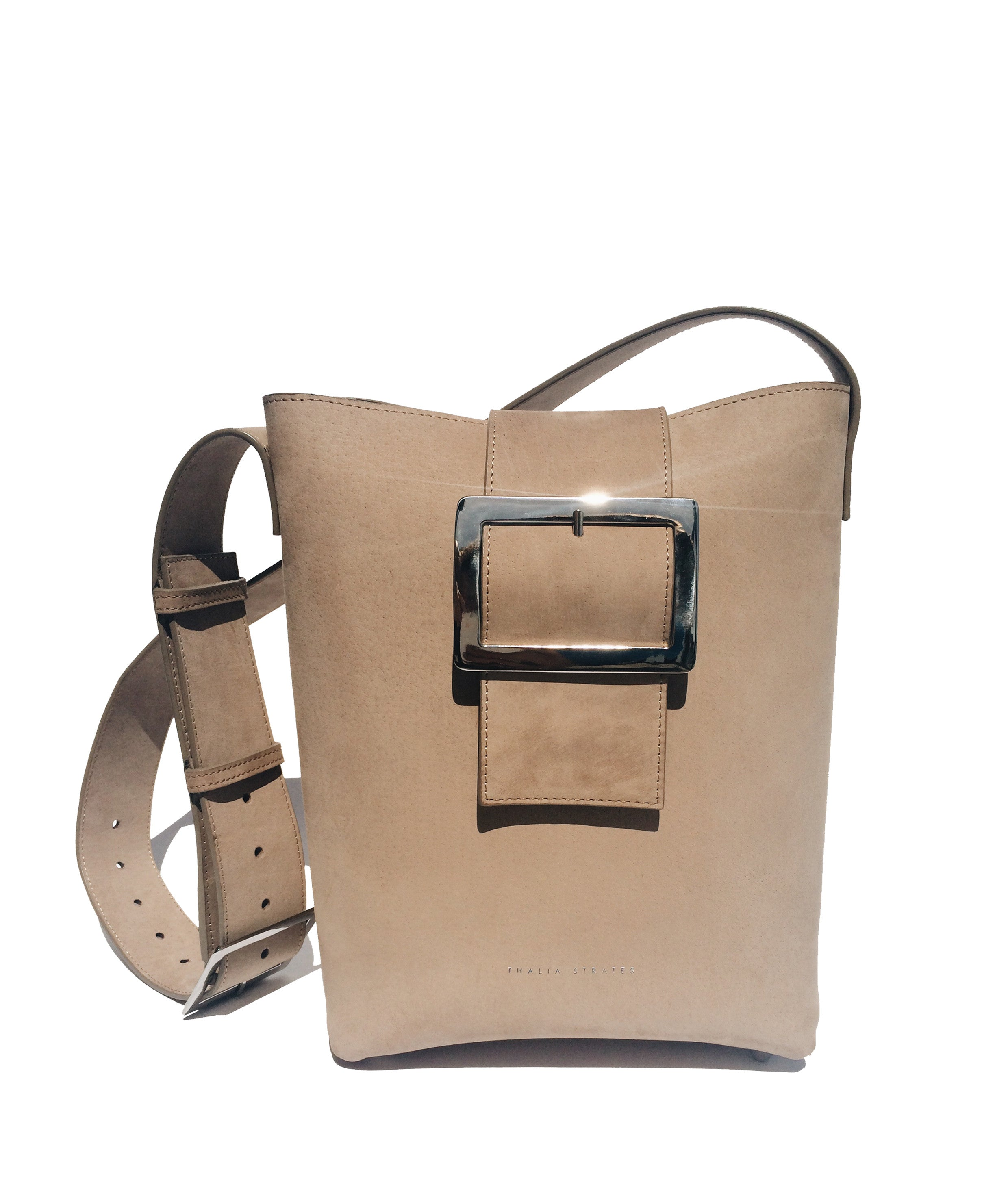 Bianca Shoulder Leather Bag - sand Nubuck