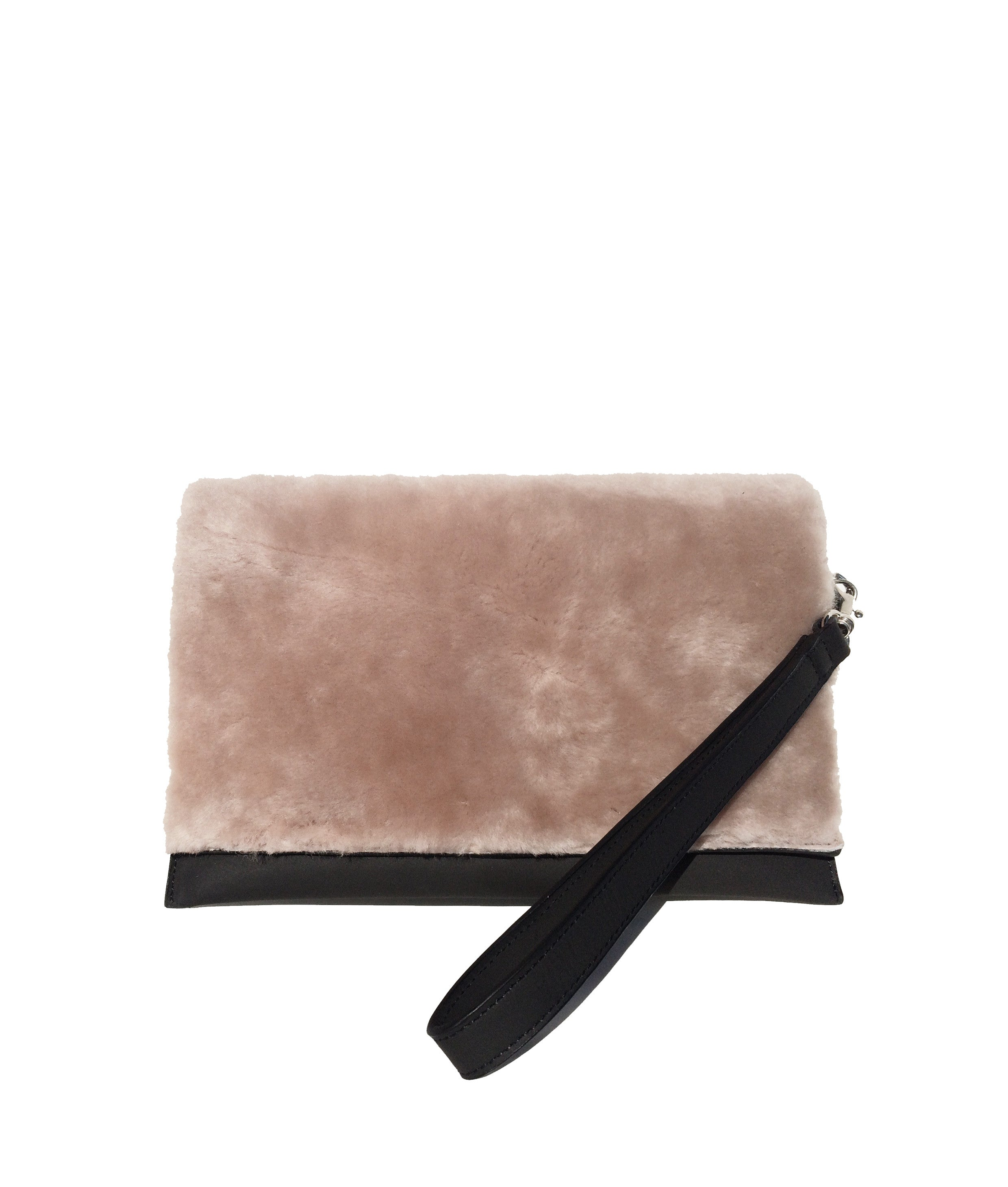 Mali leather bag with fur
