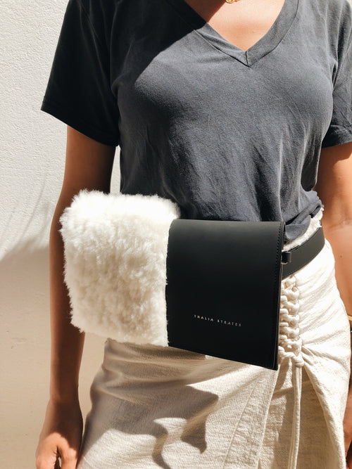 Mali Beltbag with shearling detail