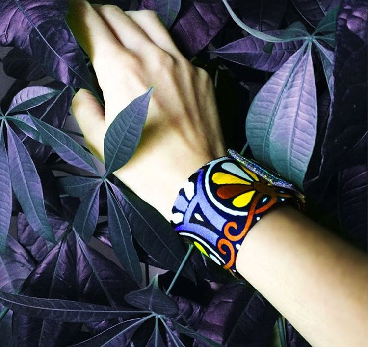 Copy of 100%Silk Snap Bracelet