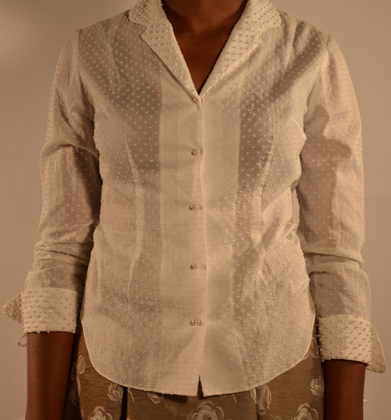 Lauren Blouse with Pearls