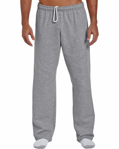 mens open hem sweatpants