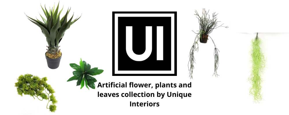 Artificial flower, plants and leaves collection by Unique Interiors