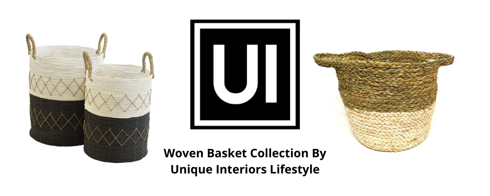 Woven Basket Collection By Unique Interiors Lifestyle