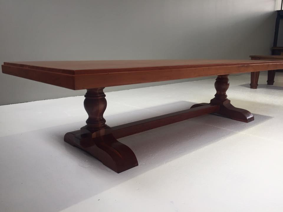 Teak Centre Turned Leg Table