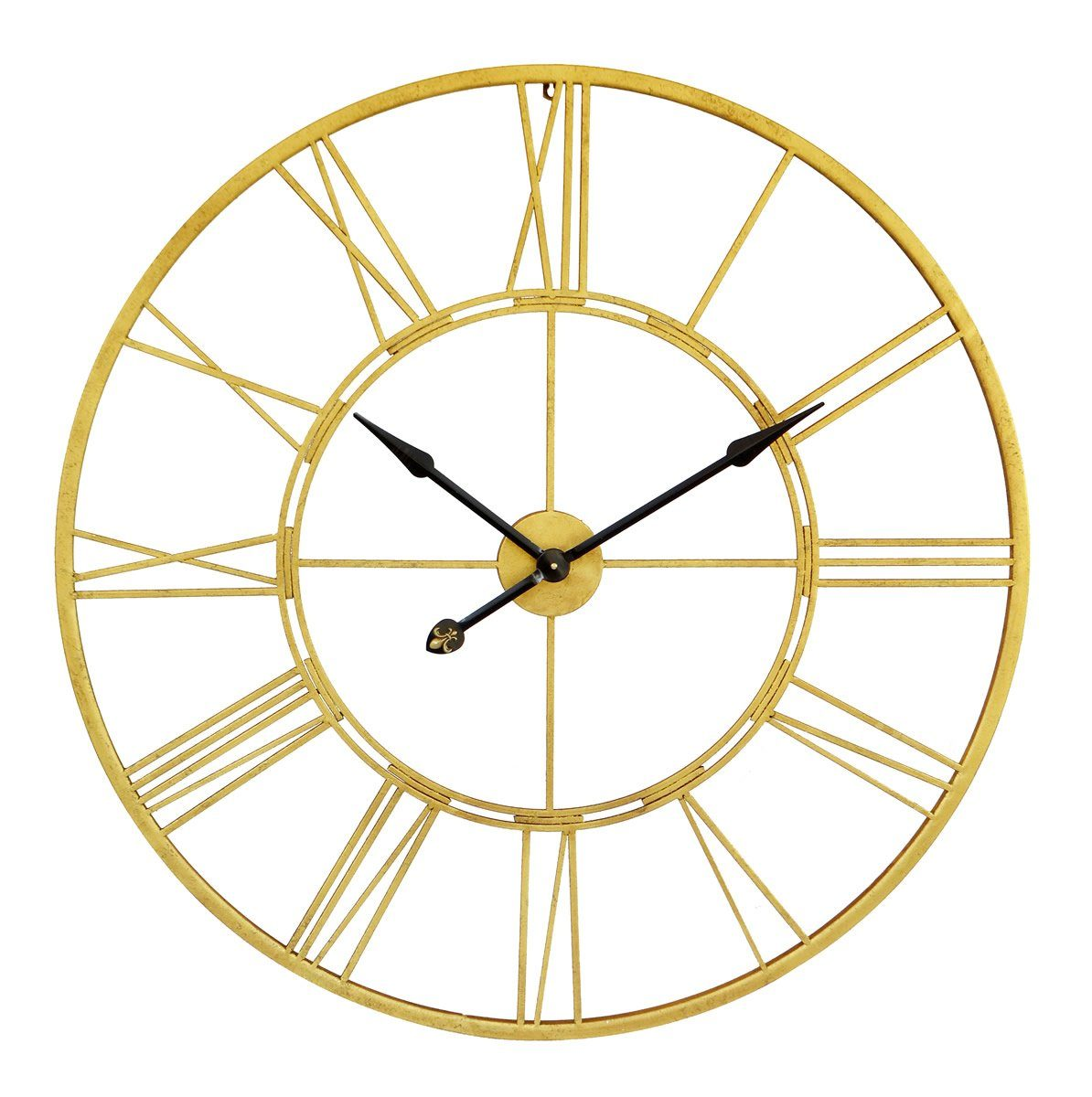 Cut out clock Gold