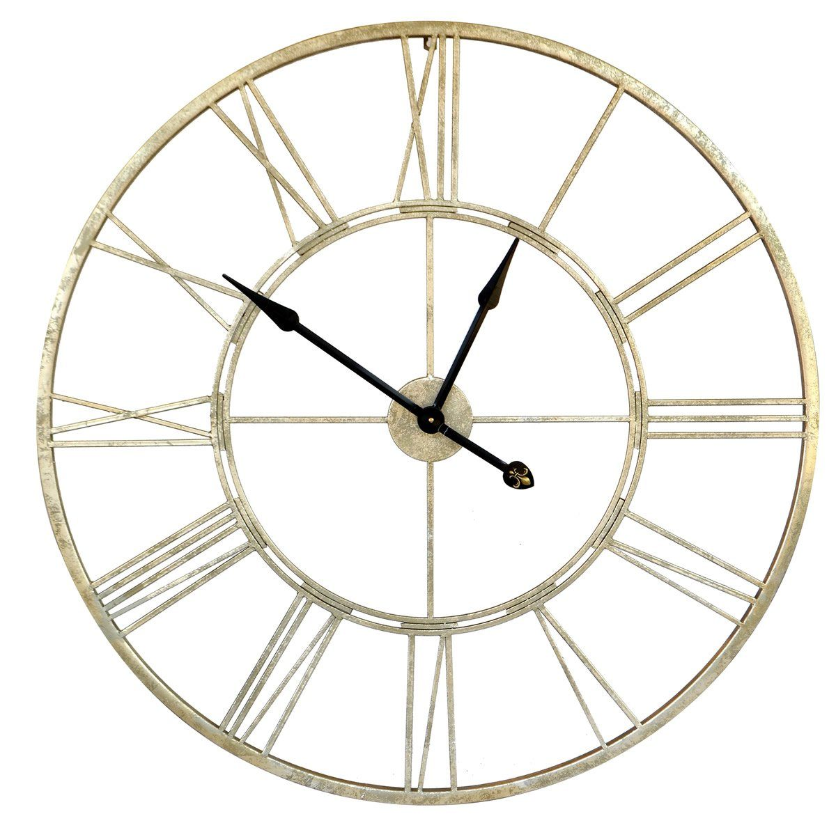 Cut out clock silver