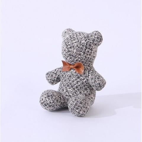 Door Stopper Bear Brown Ribbon