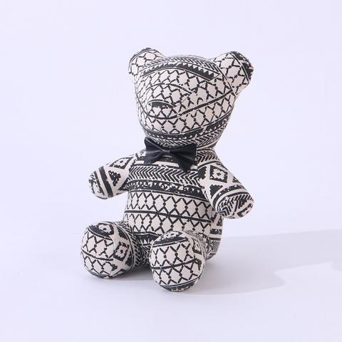 Door Stopper Bear Black Ribbon