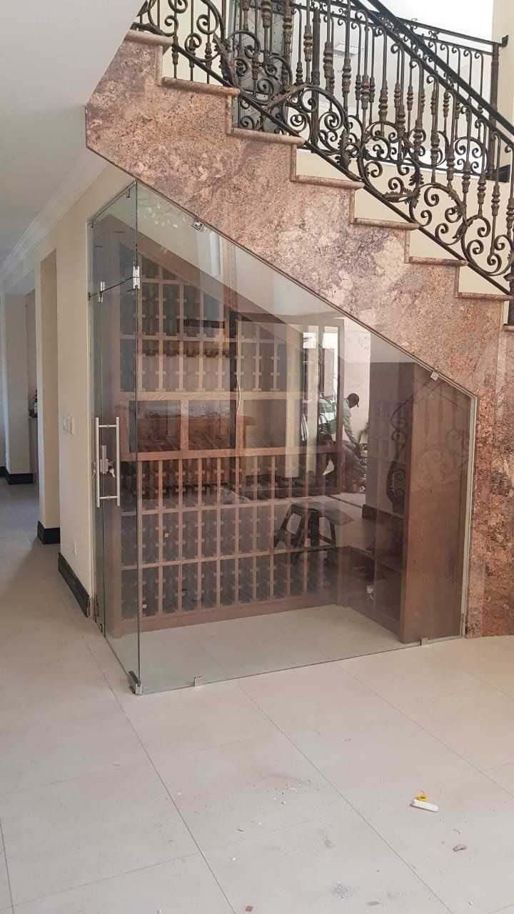 Custom made Wine rack under staircase