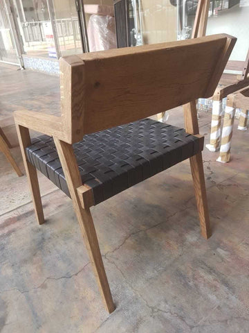 Oak Ronaldo chair with leather