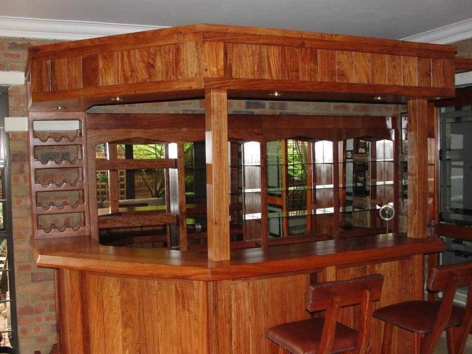 Teak custom made bar
