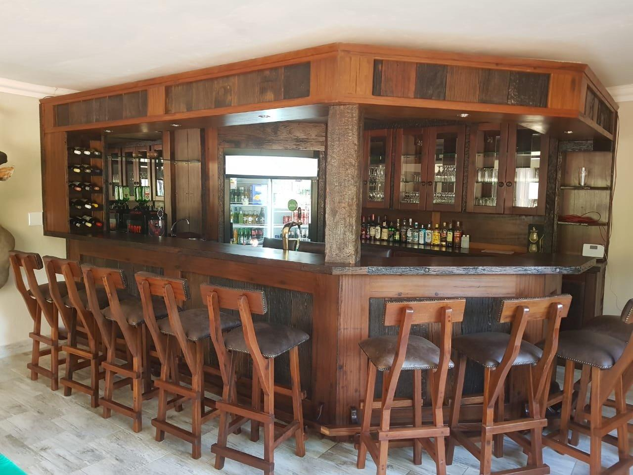 Custom made Rhodesian Teak bar