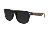 Journeyer Wood Sunglasses (Black Lens)