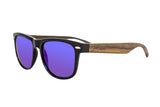 Journeyer Wood Sunglasses (Blue Lens)