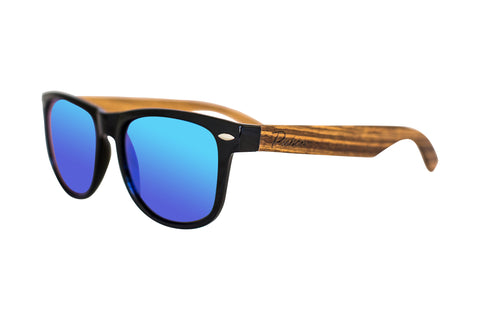 Green lens wood sunglasses