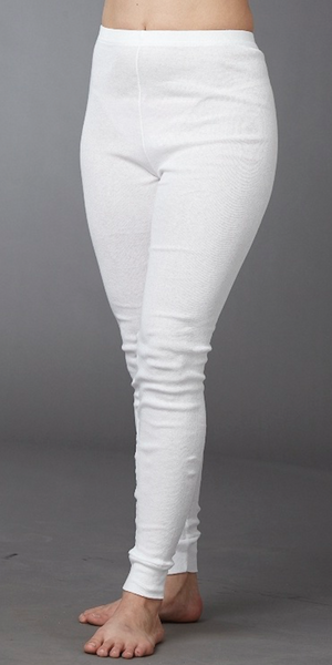 Leggings 100% White Cotton