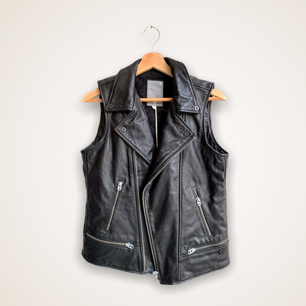 Vinferre Leather Biker Relax Gilet