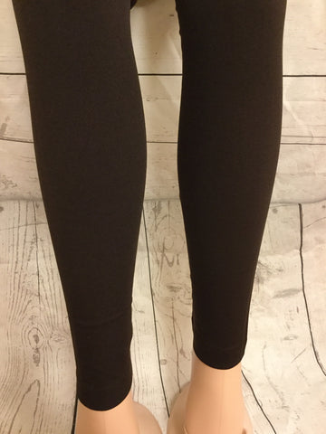 3X-4X Solid Brown Leggings