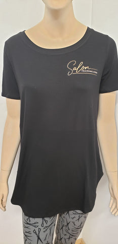 Salon Training Short Sleeve Top w Vinyl Logo