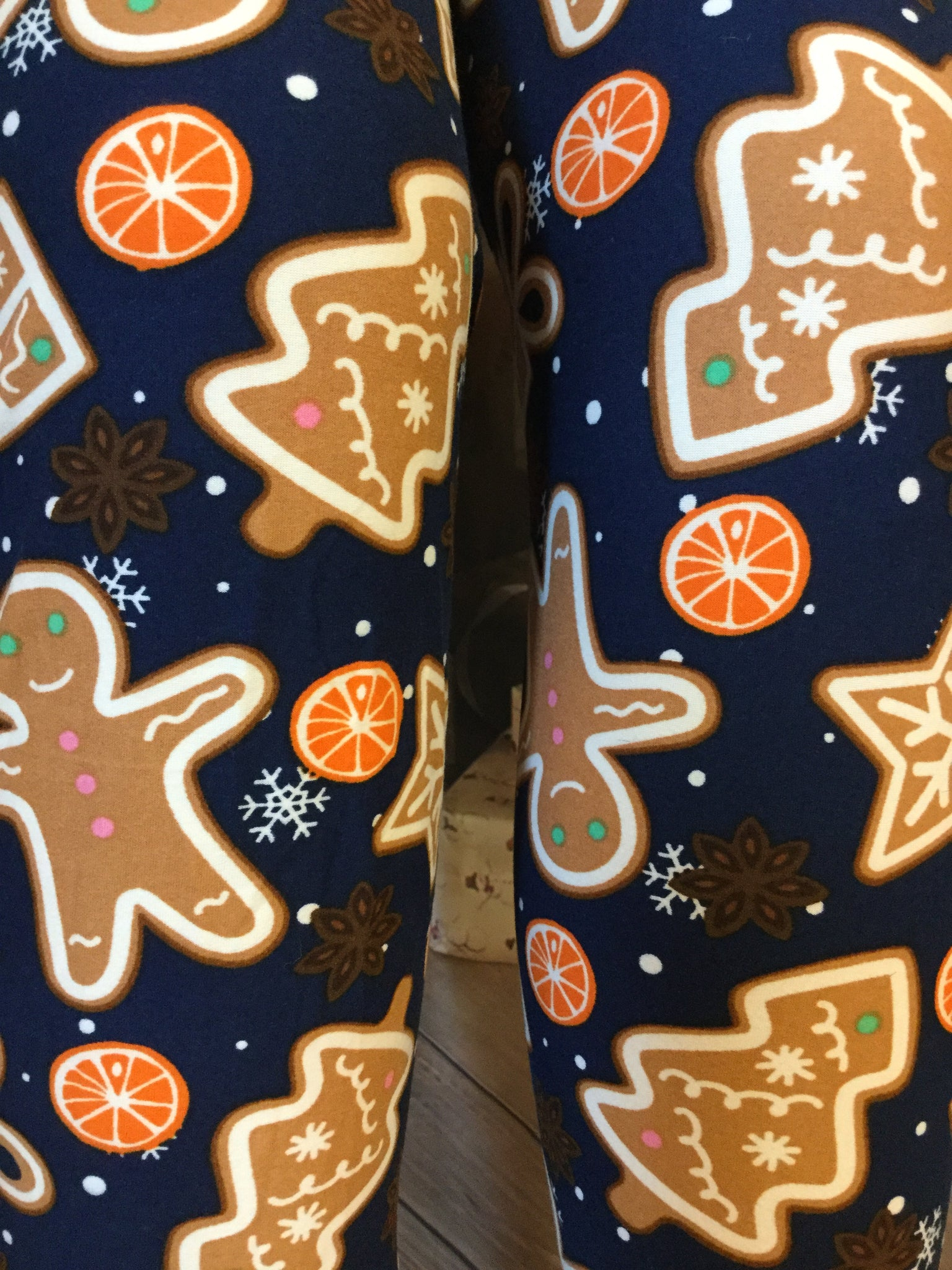 EXTRA PLUS Ginger Bread Printed Leggings
