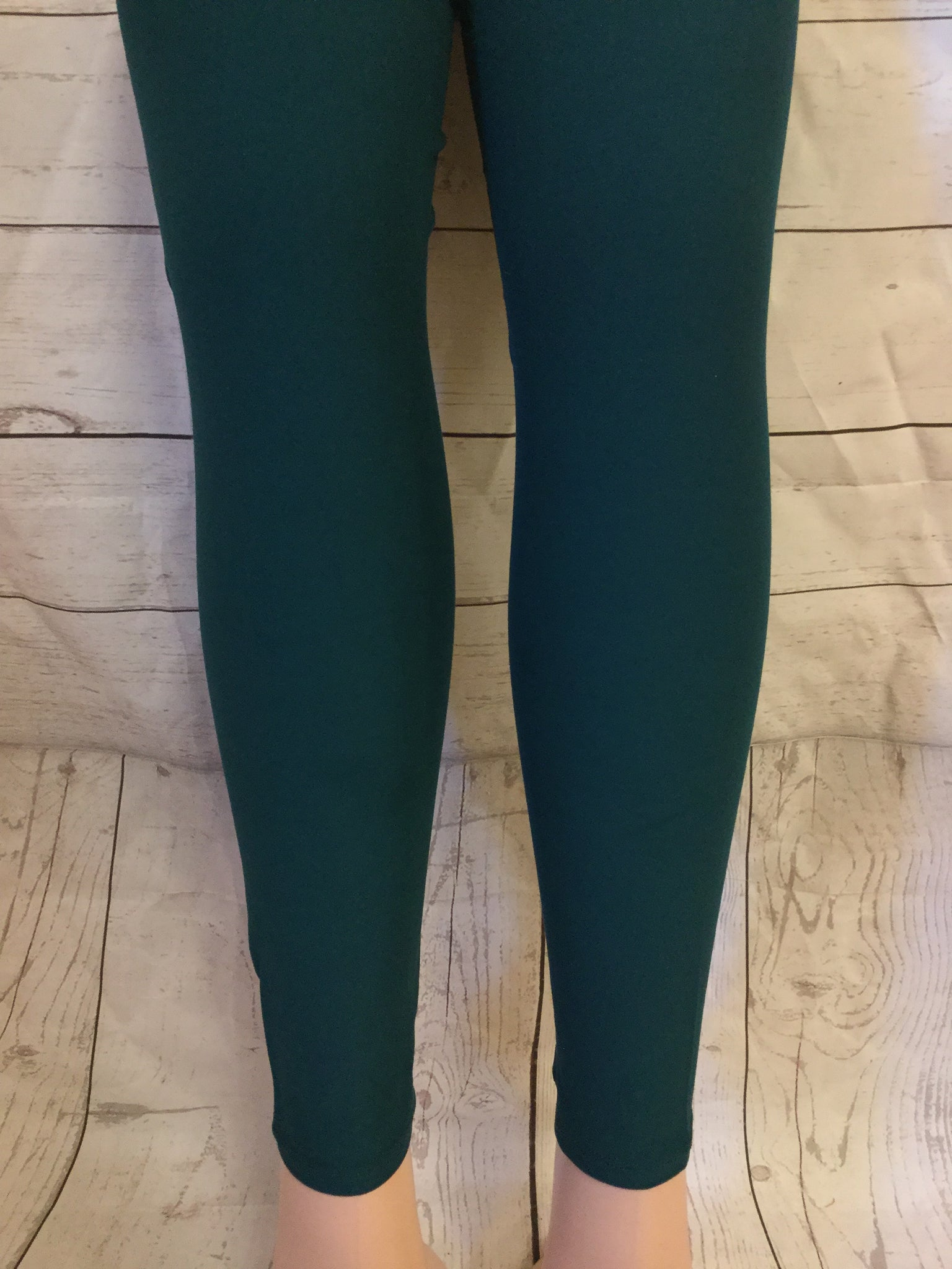 Solid Hunter Green Leggings