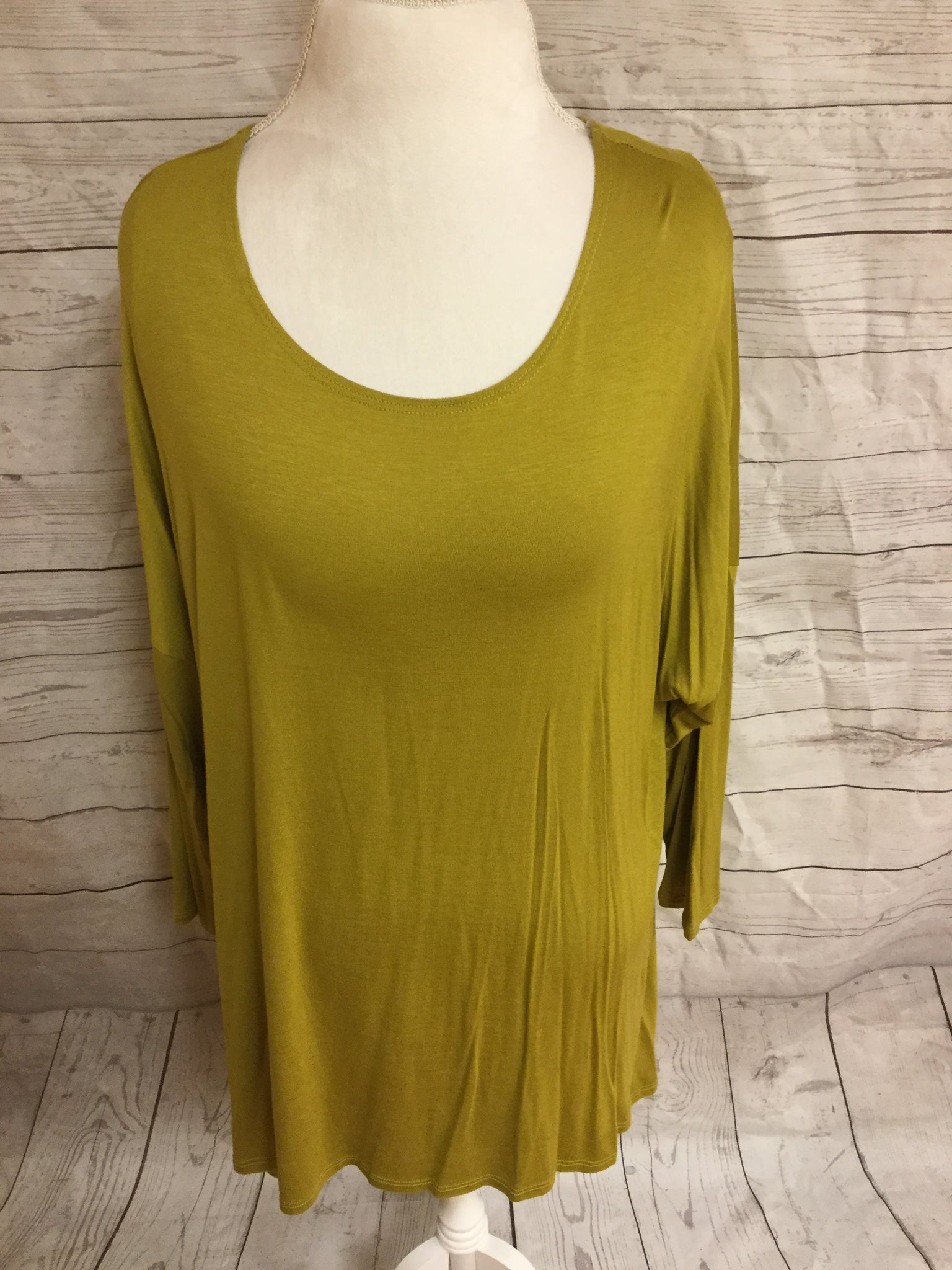 High Low Plus Size Dark Mustard Tunic