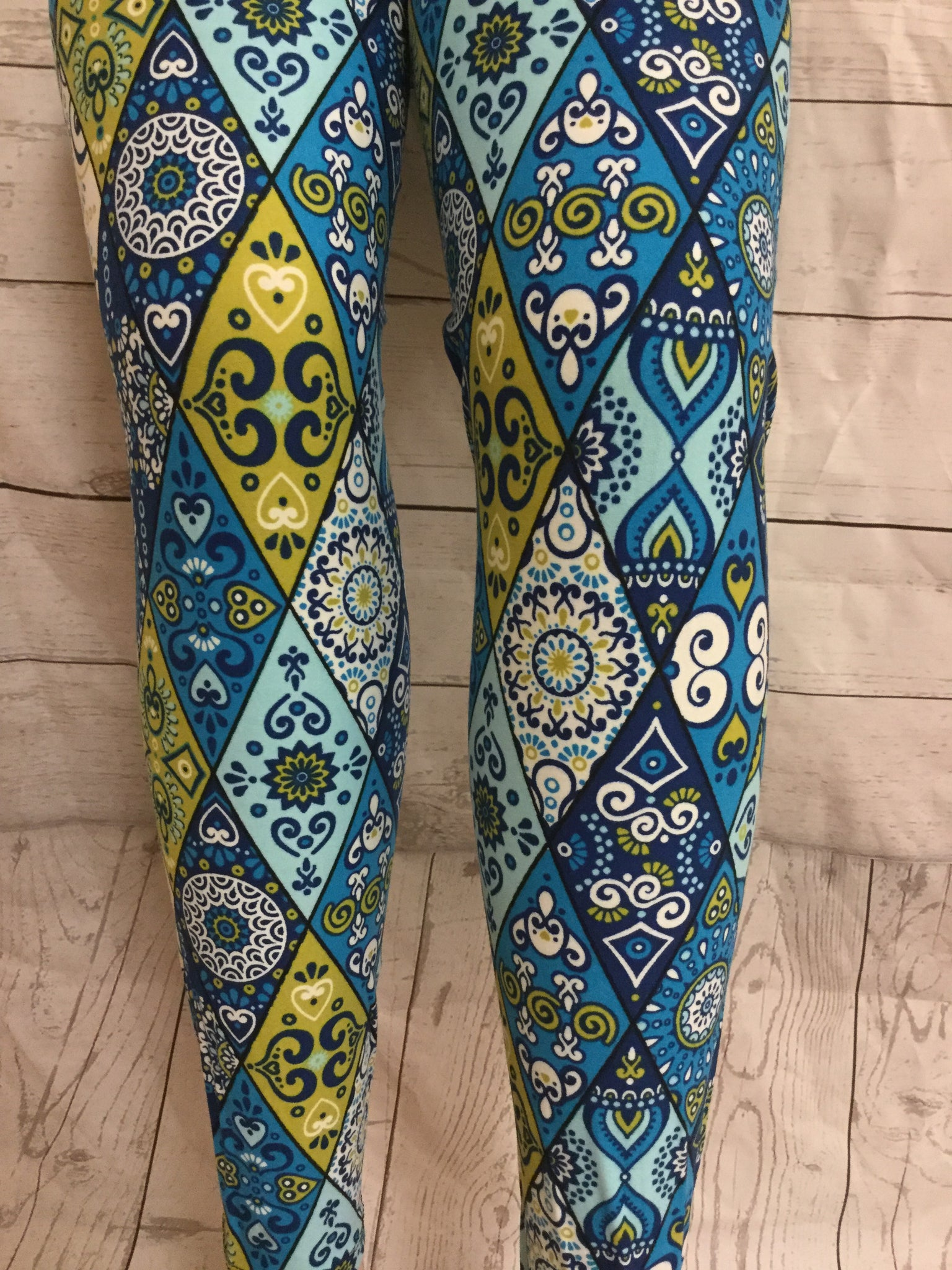 Blue Skies and Green Acres Printed Leggings