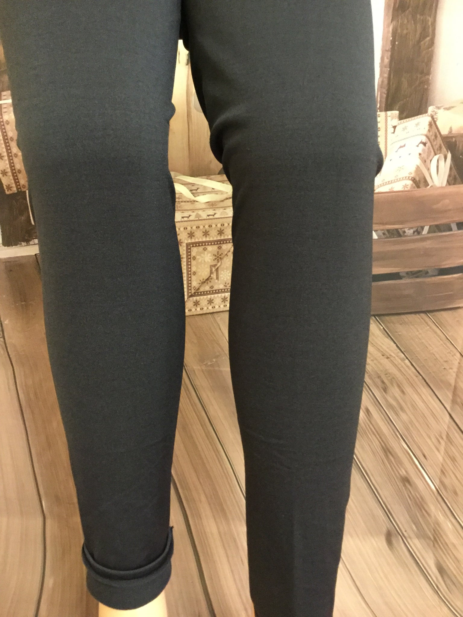 New Style Charcoal Fleeced Lined Leggings