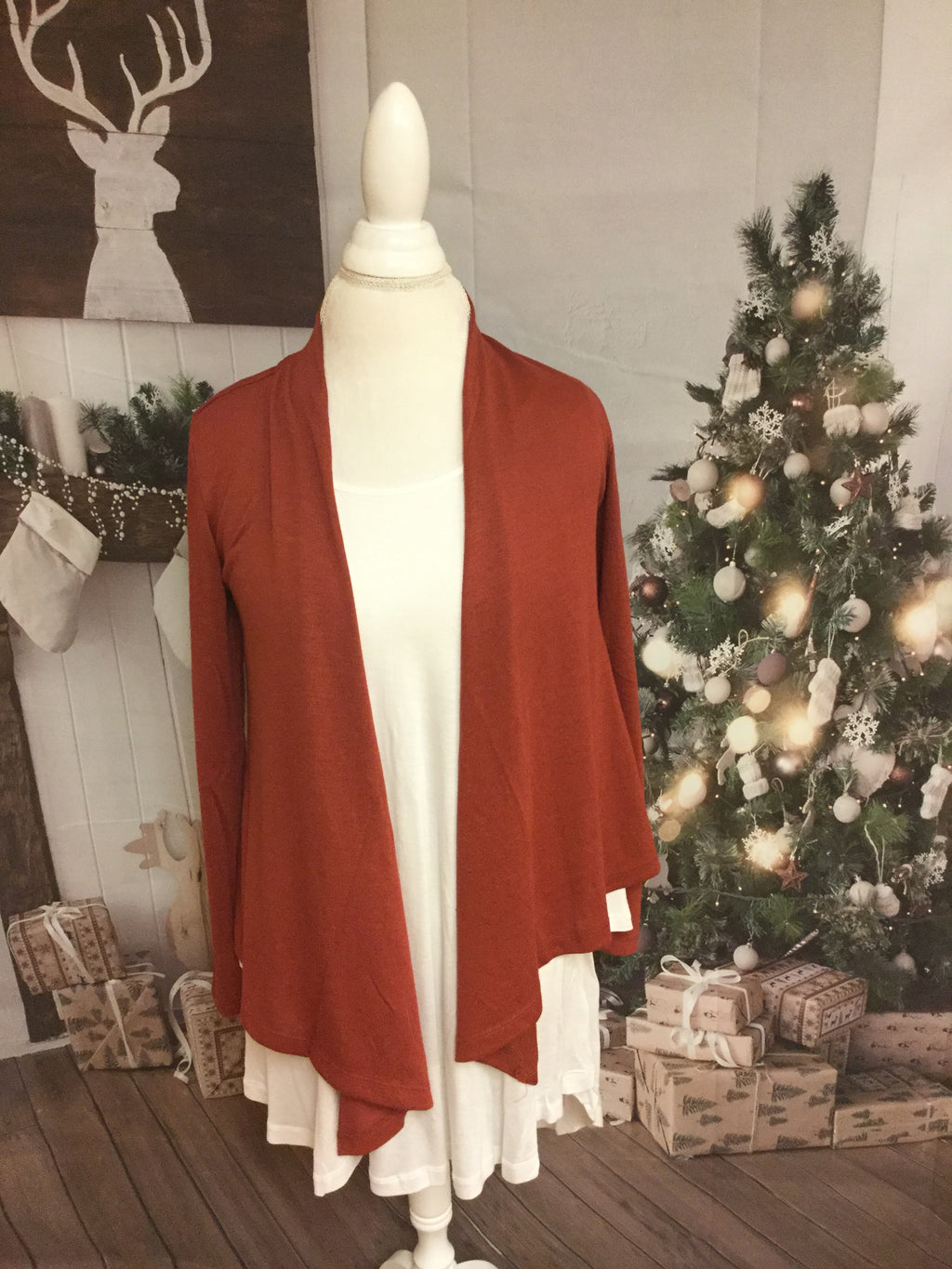 Long sleeve Marsala Waistline Cardigan