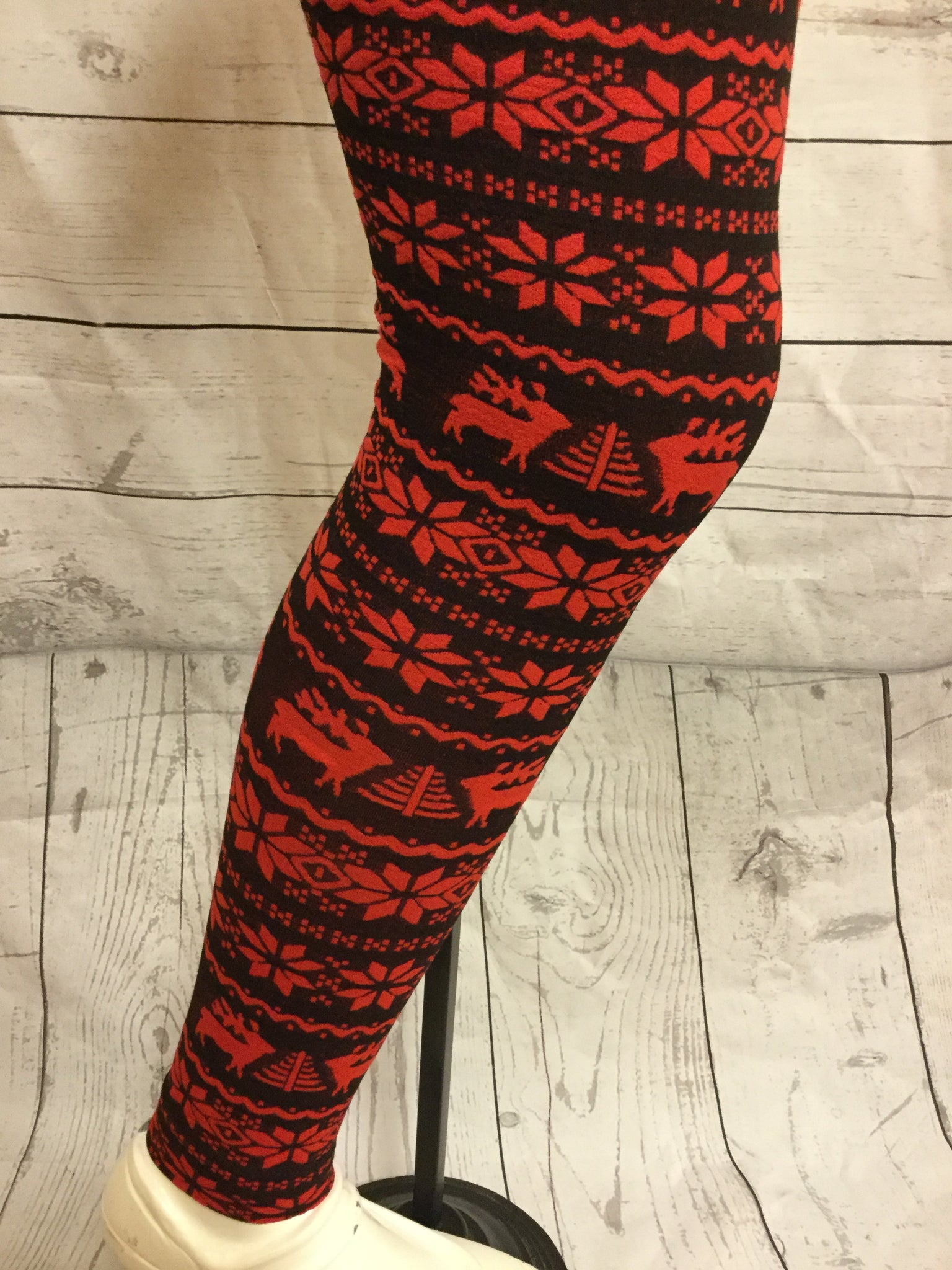 Rudolph's Red Winter Girls Fleece Leggings