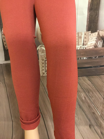 New Style Mauve Fleeced Lined Leggings
