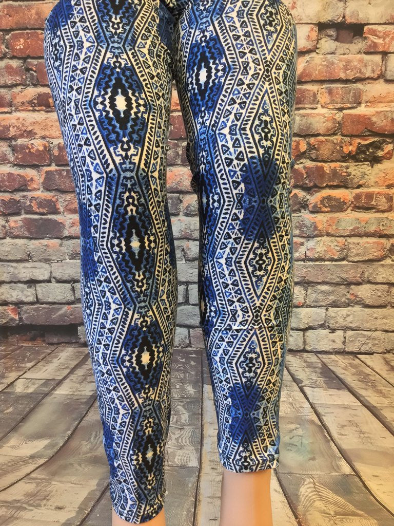 Blue Savanna Printed Leggings