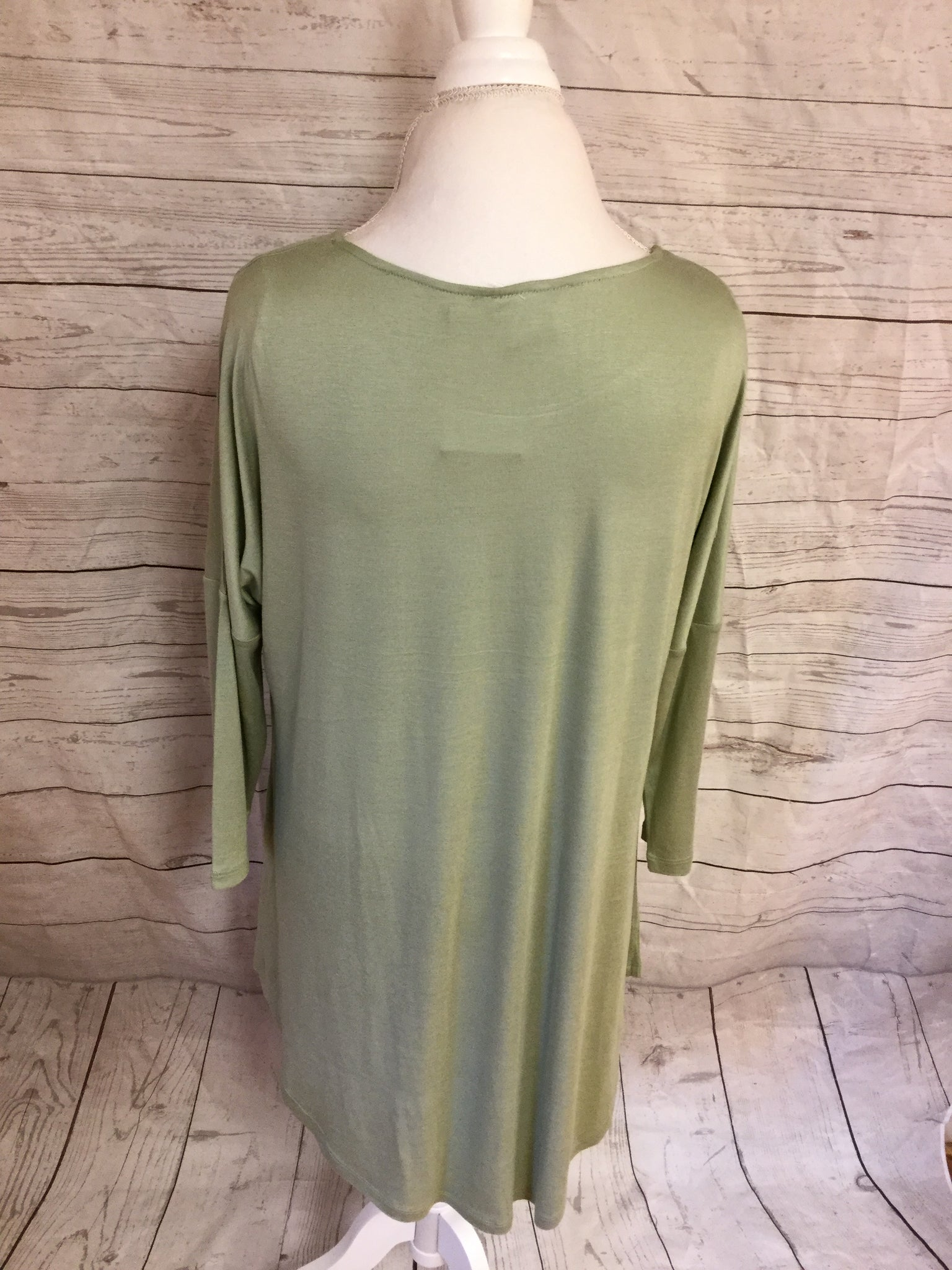 Drop Sleeve Hi Low Sage Tunic