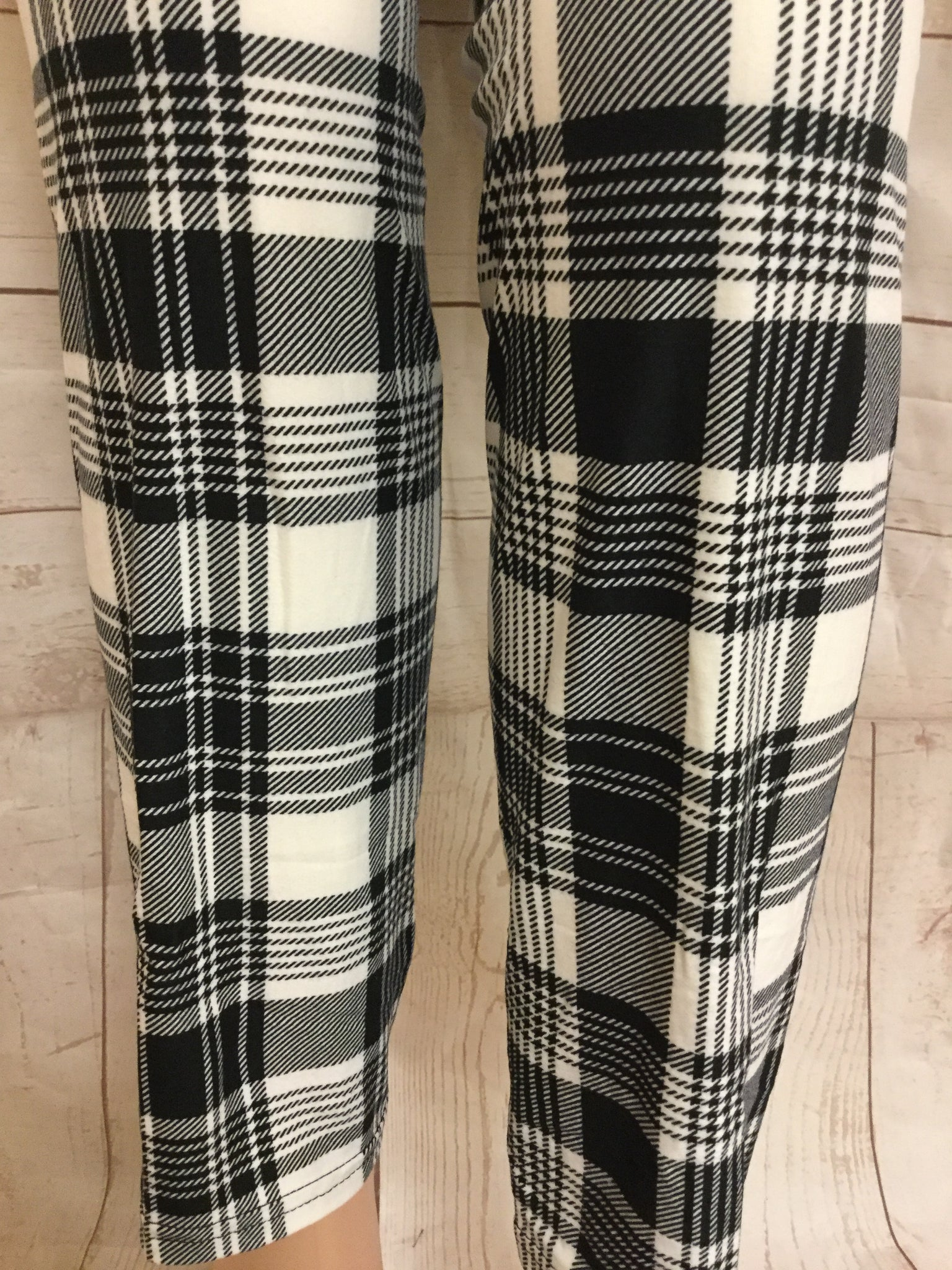 8909a9e95ebaa8 EXTRA PLUS Black and White Plaid print — 2 Blondes Apparel