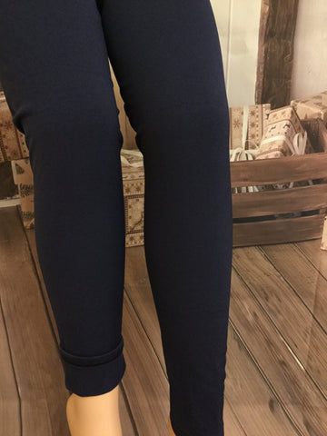 Solid Black Fleece Lined Leggings