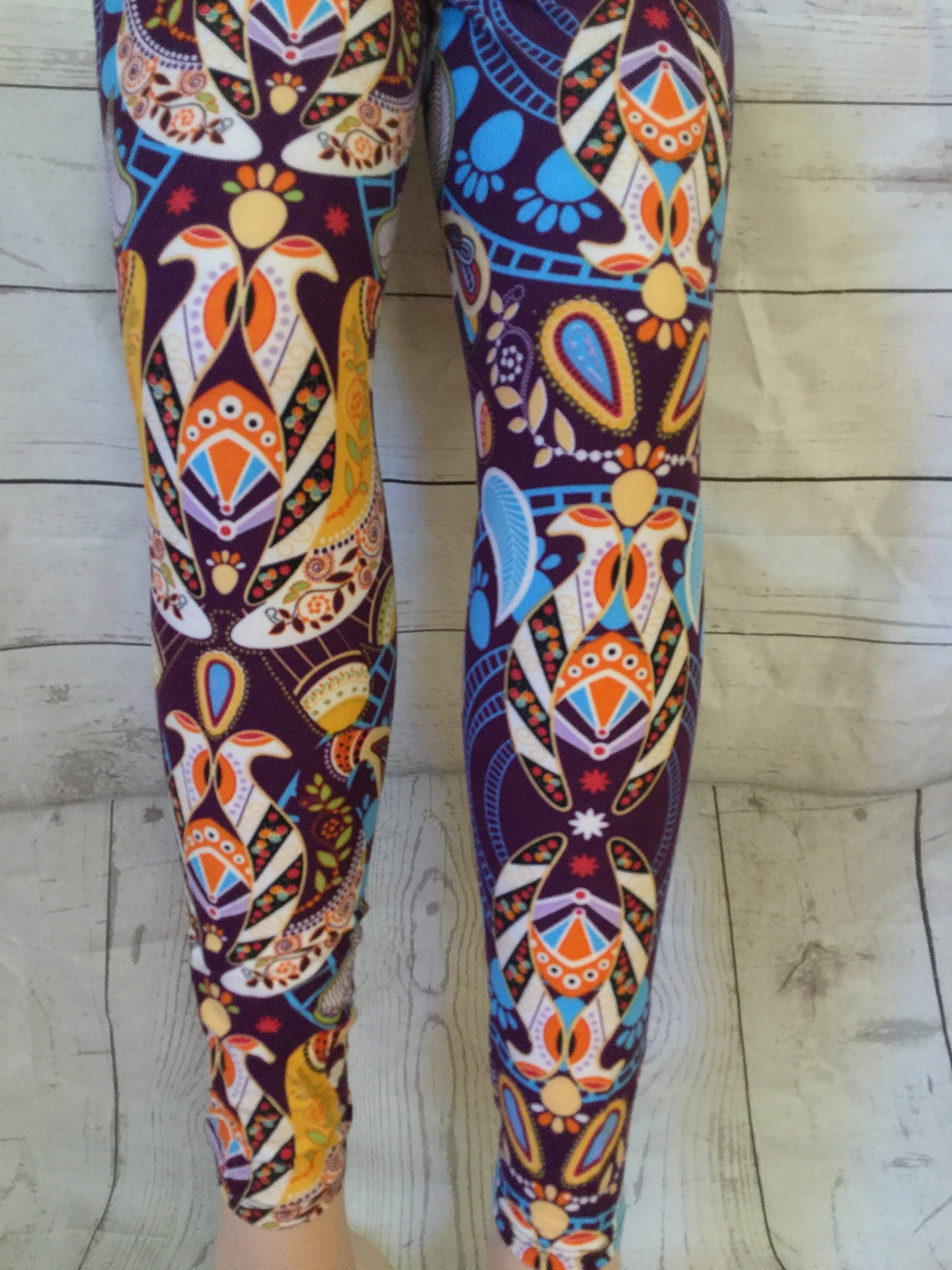 Perfect Plum Printed Leggings