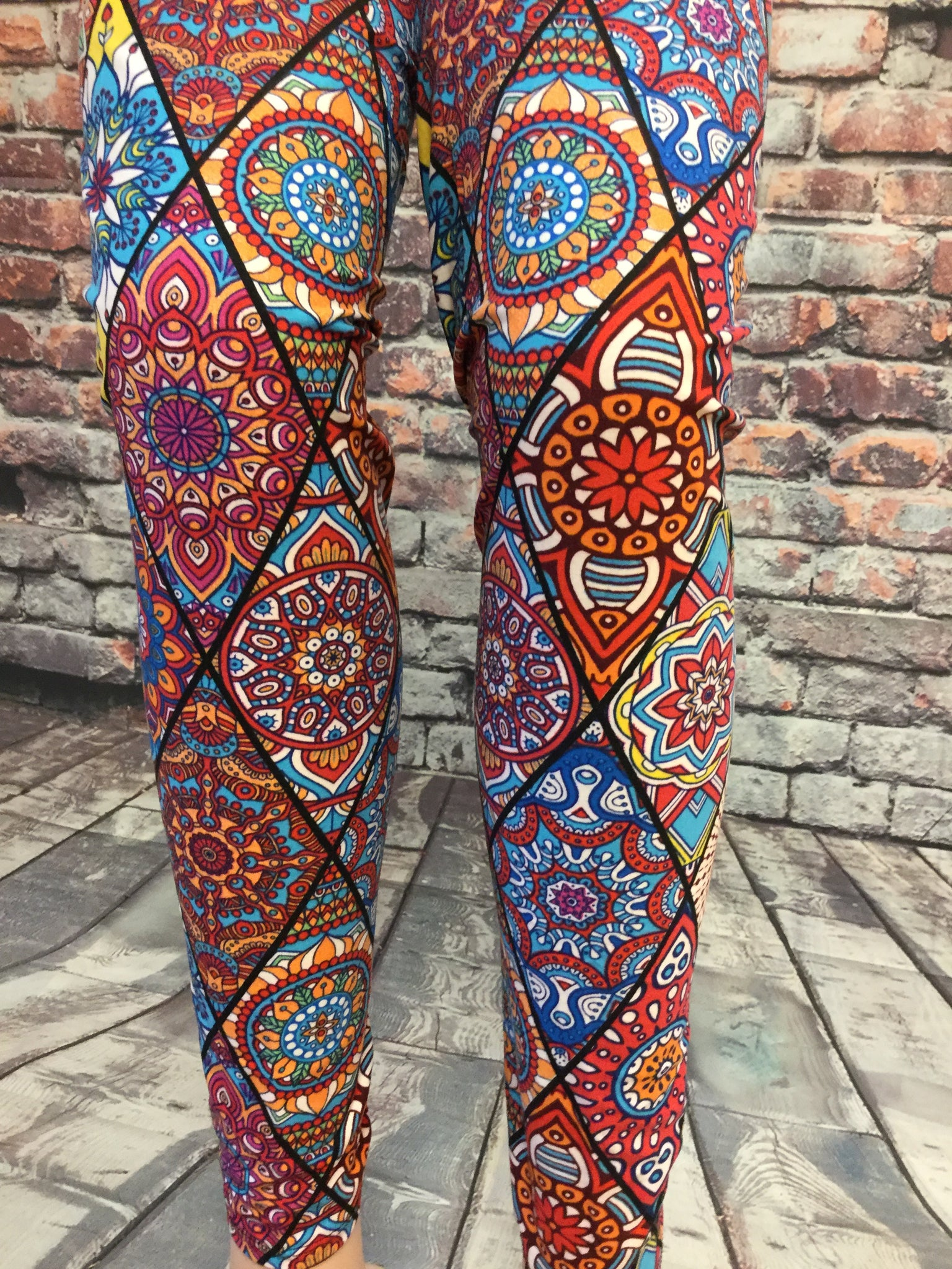Stain Glass Printed Leggings