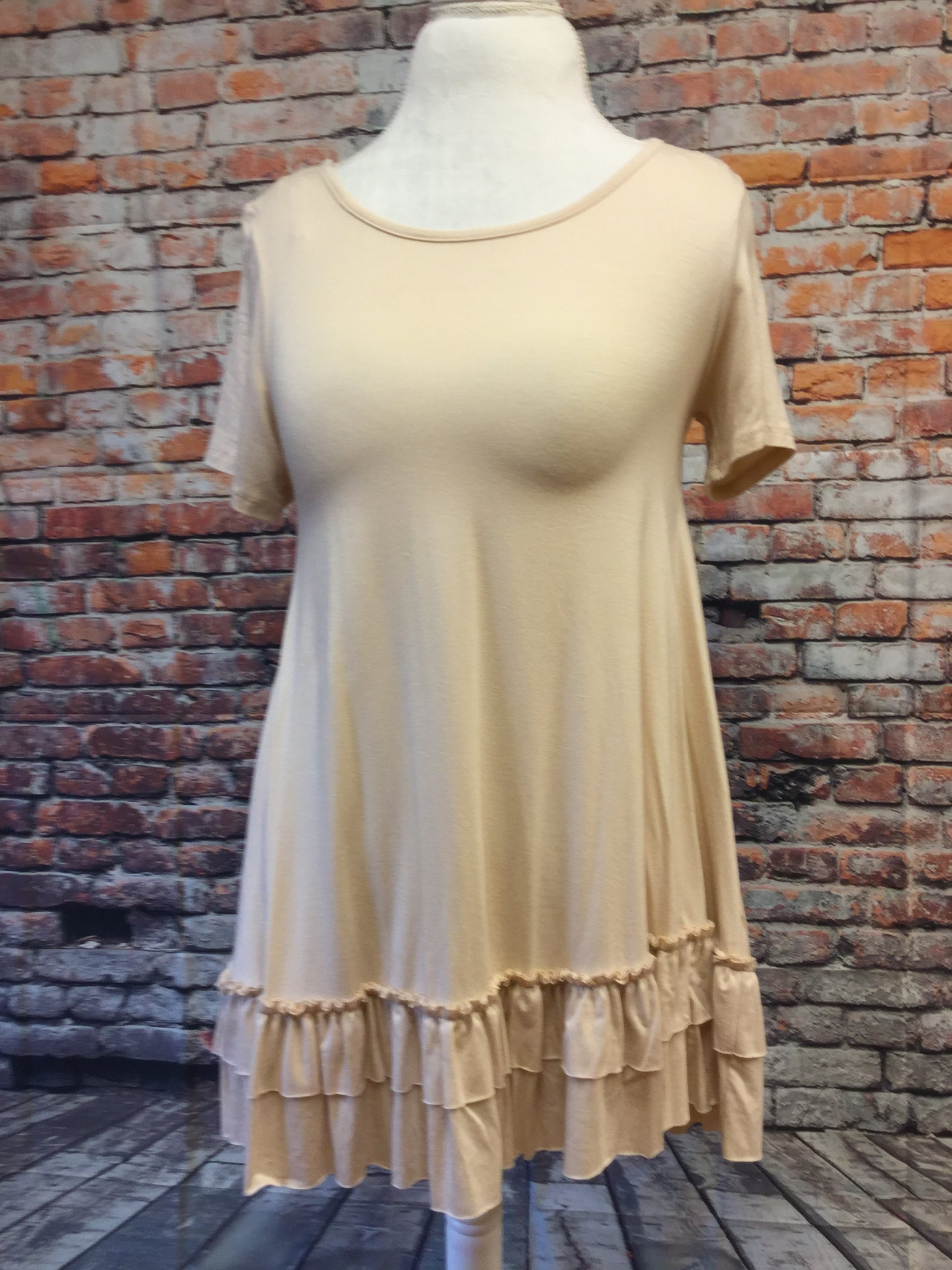 Doubled Layer Ruffle Tunic