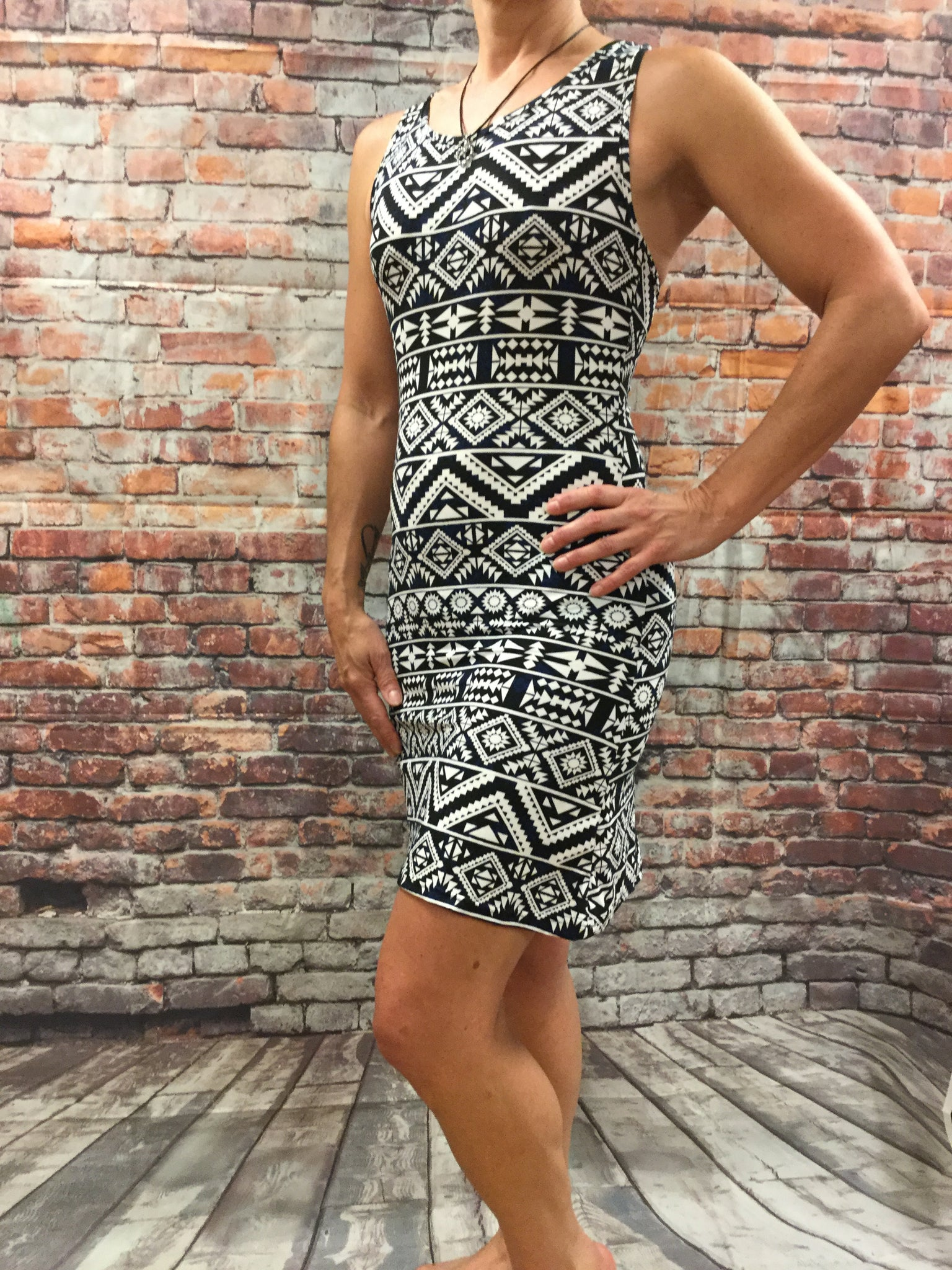 Body Con  Crisscross Fitted Dress