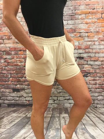Girls Solid Color Shorts
