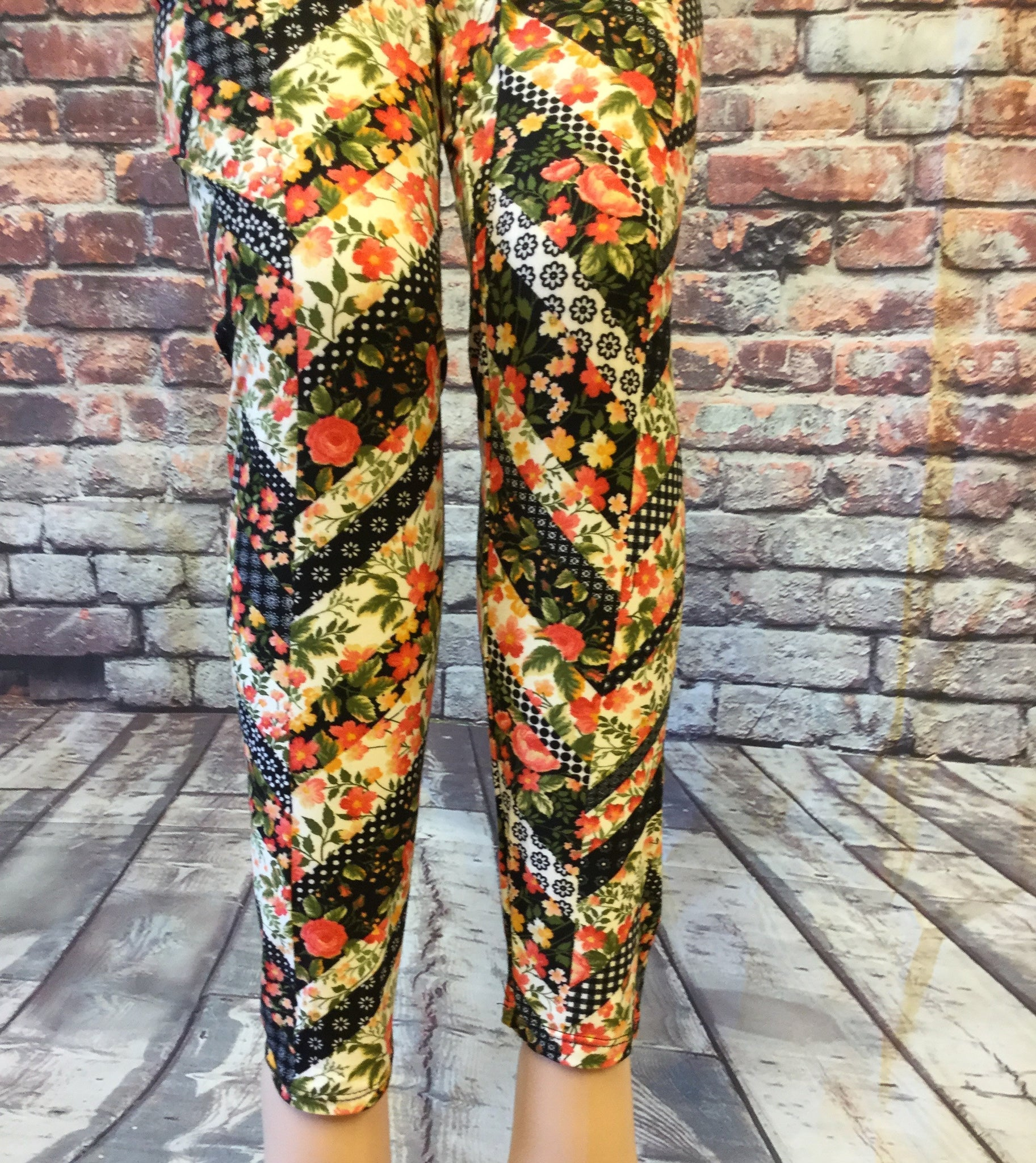 Patchworking Zag Printed Leggings