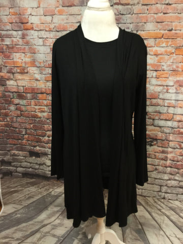 3/4 Length Black Cardigan