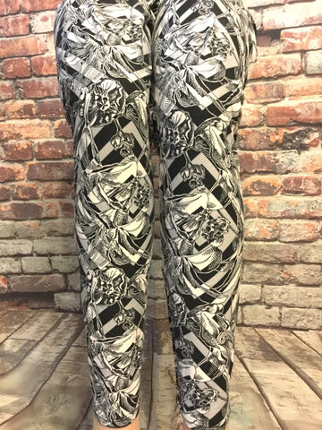 The Gray Flower Print Legging